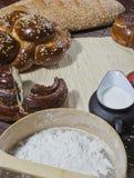 Composição de uma padaria Imagens de Stock