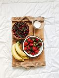 Composição de vários frutos exóticos no fundo branco fotografia de stock