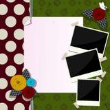 Composição decorativa do álbum de recortes Imagens de Stock Royalty Free