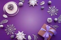 Composição decorativa para a decoração do Natal Foto de Stock Royalty Free