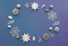Composição decorativa para a decoração do Natal Fotografia de Stock Royalty Free