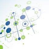 Composição dimensional da arte do Bauhaus, modular verde da perspectiva ilustração stock