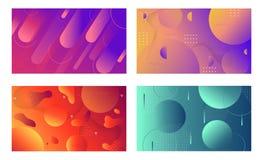 Composição dinâmica colorida das formas no fundo do inclinação Molde na moda geométrico para o inseto da bandeira da tampa do car ilustração stock