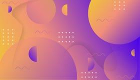 Composição dinâmica colorida das formas no fundo do inclinação Molde na moda geométrico para o inseto da bandeira da tampa do car ilustração royalty free