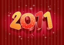 composição do ano 2011 novo. Imagens de Stock