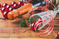 Composição do ano novo/Natal Imagens de Stock Royalty Free