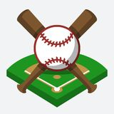 Composição do basebol do vetor ilustração stock