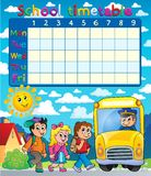 Composição 6 do calendário da escola Foto de Stock