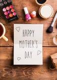 Composição do dia de mães ano novo feliz 2007 Produtos de beleza estúdio Imagens de Stock