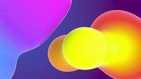 Composição do formulário de Aqua Colourful Liquid Gradients Abstraction Minimalistic filme