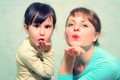 Composição do jogo Mamã e filha Fotografia de Stock