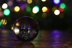 Composição do Natal com a árvore de Natal vestida no fundo fotos de stock royalty free