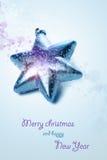 Composição do Natal com caixa de presente e decorações Imagem de Stock Royalty Free