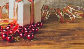 Composição do Natal no estilo rústico Imagens de Stock
