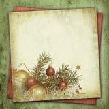 Composição do Natal no fundo do vintage Foto de Stock Royalty Free