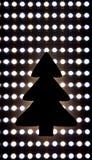 Composição do Natal ou do ano novo em um fundo azul ch de madeira Imagens de Stock Royalty Free