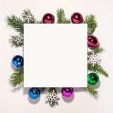 Composição do Natal Placa de papel, Natal imagem de stock royalty free