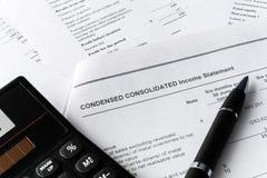 Composição do negócio Análise financeira - declaração de rendimentos Investimento e análise financeira fotos de stock royalty free