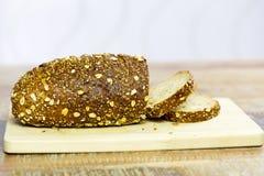 Composição do pão fresco na madeira Fotos de Stock Royalty Free