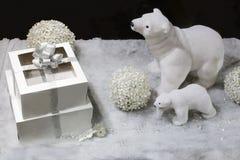 Composição do presente de época natalícia fotos de stock