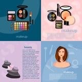 Composição do profissional da composição do conceito da forma do maquilhador Fotografia de Stock Royalty Free