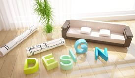 Composição do projeto interior fotografia de stock