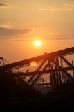 A composição do sol de ajuste Fotografia de Stock