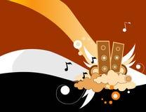 Composição do vetor da música ilustração stock