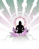 Composição do vetor da meditação ilustração stock