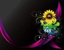 Composição do vetor das flores Foto de Stock Royalty Free