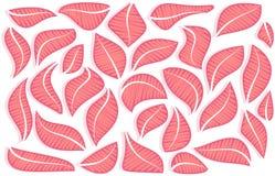 Composição do vetor das folhas cor-de-rosa abstratas Imagens de Stock Royalty Free