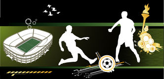 Composição do vetor do futebol ilustração stock