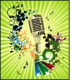 Composição do vetor do microfone ilustração do vetor