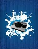 Composição do vetor do misturador do DJ ilustração do vetor