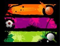 Composição do vetor dos esportes Foto de Stock