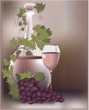 Composição do vinho ilustração royalty free