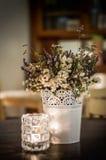 Composição do vintage com wildflowers secados fotos de stock royalty free