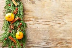 Composição dos citrinos, especiarias Foto de Stock