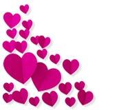 Composição dos corações do amor isolada no fundo branco Foto de Stock