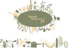 Composição dos elementos do alimento Ilustração do Vetor