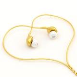 composição dos fones de ouvido da Em-orelha Imagens de Stock Royalty Free
