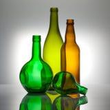 Composição dos frascos de vidro da cor Imagem de Stock Royalty Free