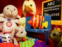 Composição dos jogos pequenos que fariam cada criança feliz Fotos de Stock Royalty Free