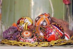 Composição dos ovos de Easter Imagens de Stock Royalty Free