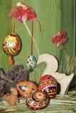 Composição dos ovos de Easter Fotografia de Stock