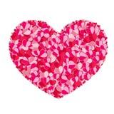Composição dos Valentim dos corações Imagens de Stock Royalty Free