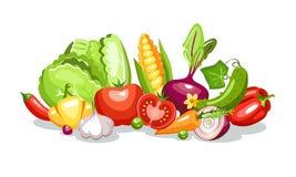 Composição dos vegetais Fotos de Stock Royalty Free