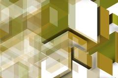 Composição dourada para a parede elegante Fotos de Stock Royalty Free