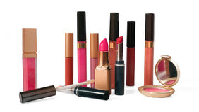 Composição e cosméticos fotografia de stock royalty free