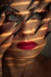 Composição e manicure creativos da forma Foto de Stock Royalty Free